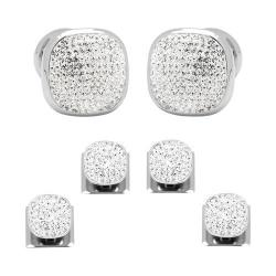 Men's Ox & Bull Trading Co. White Pave Crystal Stud Set White