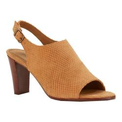 Women's Walking Cradles Gwen Slingback Camel Snake Nubuck Leather