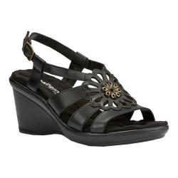 Women's Walking Cradles Lindsey Wedge Sandal Black Nappa