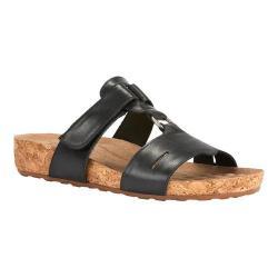 Women's Walking Cradles Penny Slide Black Soft Antanado Leather/Cork