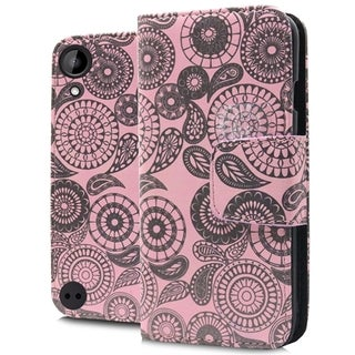 HTC Desire 530 Paisley Pink PU Leather Brushed Wallet Pouch