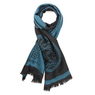 Versace Middle Maze Stripe Men's Scarf