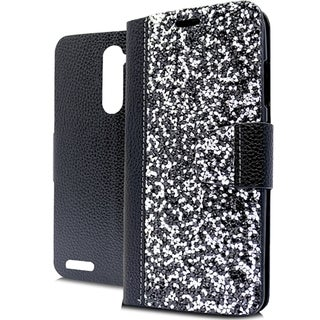 ZTE Zmax Pro Black Rock TPU Wallet Case