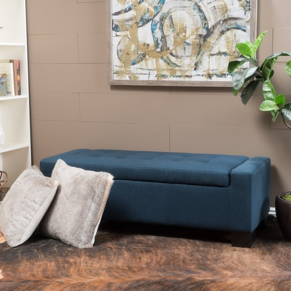 Lawton Fabric Storage Ottoman Bench by Christopher Knight Home (As Is Item). Opens flyout.
