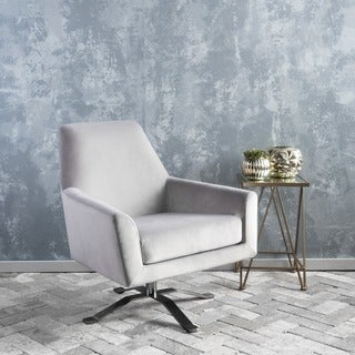 Ailis Velvet Fabric Swivel Club Chair by Christopher Knight Home (5 options available)