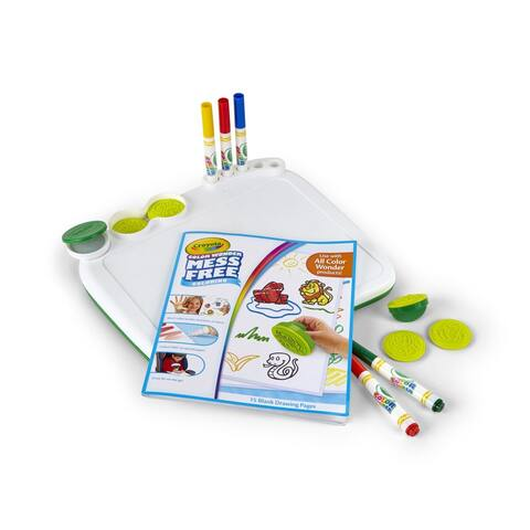 CRAYOLA COLOR WONDER ART DESK TOYSW/ STAMPERS MESS-FREE FUN IN A CASE