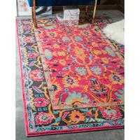 Unique Loom Flamenco Medici Area Rug - 4' x 6'