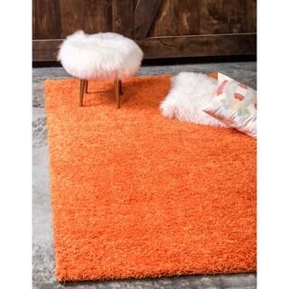 Tiger Solid Orange Shag Rug (4' x 6')