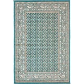 Turkish Tribeca Teal Polypropylene Rug (4' x 6')