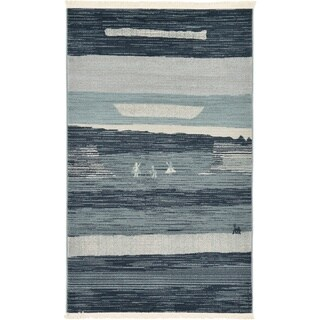 Unique Loom Alberta Fars Area Rug (Blue - 33 x 53)