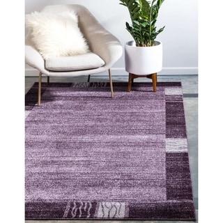 Unique Loom Del Mar Purple Polypropylene Rug (3'2 x 5'2)