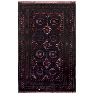 ABC Accent Vintage Tribal Phil Black Hand-knotted Rug (4' x 6')