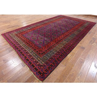 Balouch Multicolor Wool Hand-knotted Oriental Persian Rug (7'10 x 13'1)