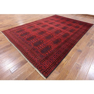 Persian Balouch Hand-knotted Oriental Red Wool Rug (7'9 x 11'6)