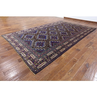 Oriental Persian Balouch Multicolored Hand-knotted Wool-on-wool Rug (7'9 x 13'1)