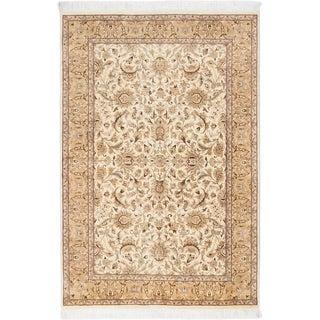 Ecarpetgallery Pako Persian 18/20 Blue, Ivory  Wool Rug (4'1 x 6'1)