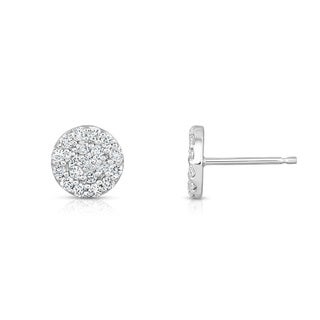Noray Designs 14k White Gold 2/5ct TDW Diamond Stud Earrings (G-H, I1-I2)