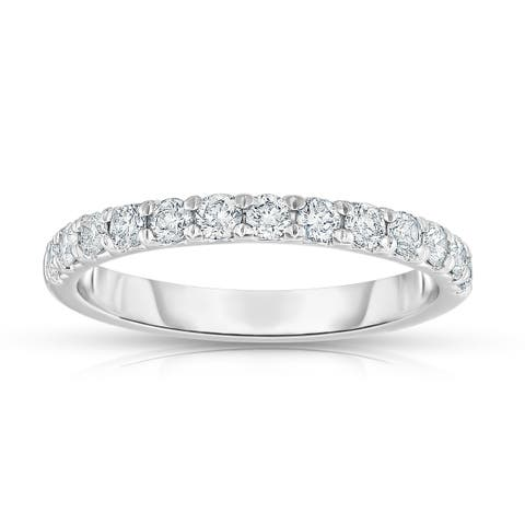 Noray Designs 14K White Gold 1/2ct TDW Diamond Wedding Band
