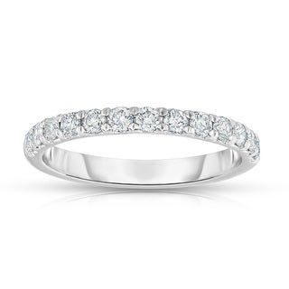 Noray Designs 14K White Gold 1/2ct TDW Diamond Wedding Band (G-H, I1-I2)