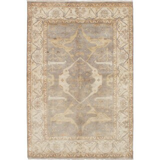 Ecarpetgallery Royal Ushak Grey Wool Rug (6'0 x 8'11)