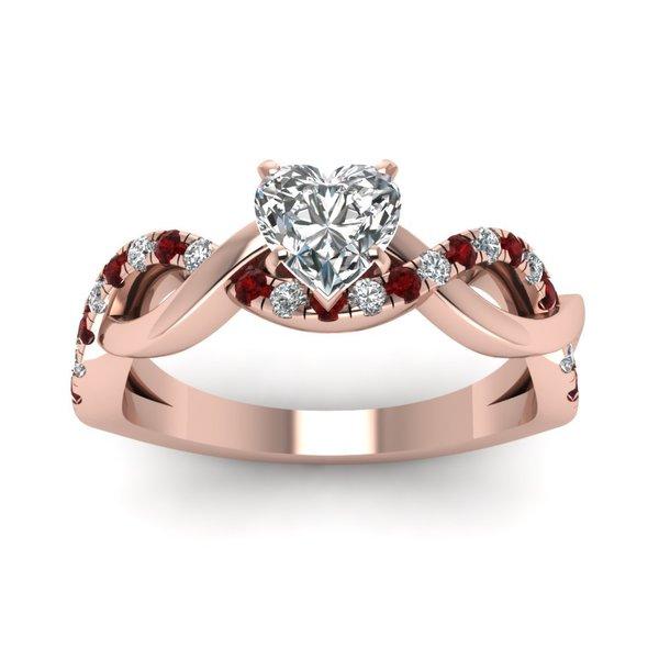 1154cbf0c6b Shop 14k Rose Gold GIA-certified 3 4ct TDW Heart-cut Diamond and ...