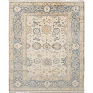 Ecarpetgallery Royal Ushak Ivory  Wool Rug (8'0 x 9'9)