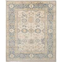Ecarpetgallery Royal Ushak Ivory Wool Rug - 8'0 x 9'9