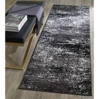 Safavieh Adirondack Modern Abstract Silver/ Black Runner Rug - 2'6 x 16'