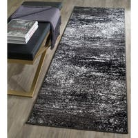 Safavieh Adirondack Modern Abstract Silver/ Black Runner Rug - 2'6 x 18'