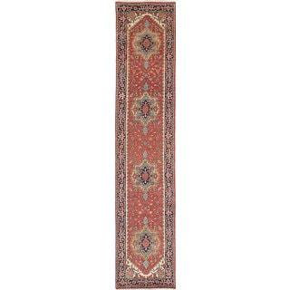 Ecarpetgallery Serapi Heritage Brown  Wool Rug (2'6 x 12'3)