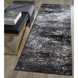 Safavieh Adirondack Modern Abstract Silver/ Black Runner Rug (2' 6 x 20')