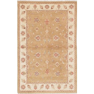 Ecarpetgallery Chobi Twisted Orange Wool Rug (3'11 x 6'2)