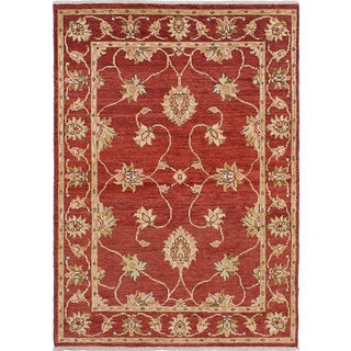 Ecarpetgallery Chubi Collection Red Wool Rug (4'0 x 5'8)