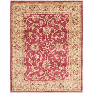 Ecarpetgallery Chobi Finest Red Wool Rug (5'1 x 6'6)