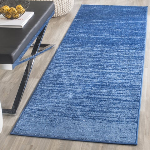 "Safavieh Adirondack Vera Ombre Light Blue/ Dark Blue Rug - 2'6"" x 16'"