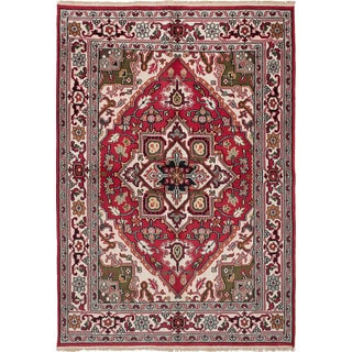 Ecarpetgallery Royal Heriz Ivory, Red Wool Rug (6'0 x 8'7)
