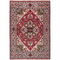 Ecarpetgallery Royal Heriz Ivory, Red  Wool Rug (6'0 x 8'7)