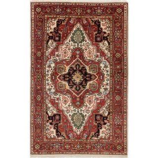 Ecarpetgallery Serapi Heritage Red  Wool Rug (5'10 x 9'0)
