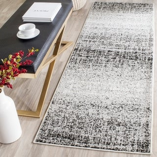 Safavieh Adirondack Modern Abstract Silver/ Black Runner Rug (2' 6 x 18')