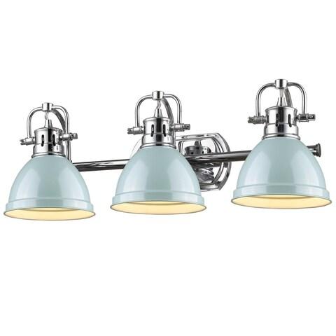 Golden Lighting Duncan 3-light Bath Vanity in Chrome