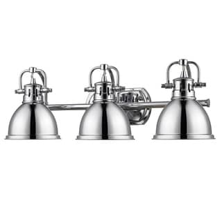 Golden Lighting Duncan Chrome 3-light Bath Vanity