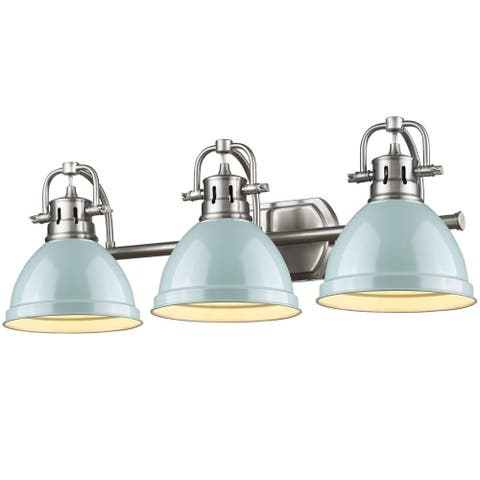 Golden Lighting Pewter Seafoam Duncan Bath Vanity Light