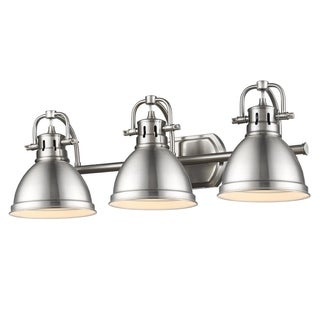 Golden Lighting 'Duncan' Pewter 3-light Bath Vanity