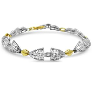 Noori 14k Yellow and White Gold 2 1/4ct TDW White Diamond Bracelet