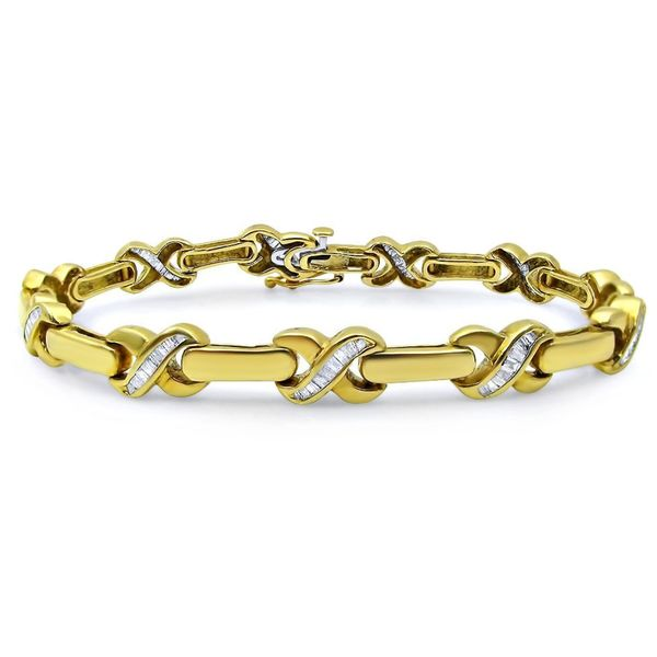 Noori 14k Yellow Gold 1 1 4ct TDW Baguette Diamond Bracelet Free