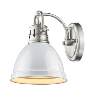 Golden Lighting Duncan Pewter With a White Shade 1-light Bath Vanity