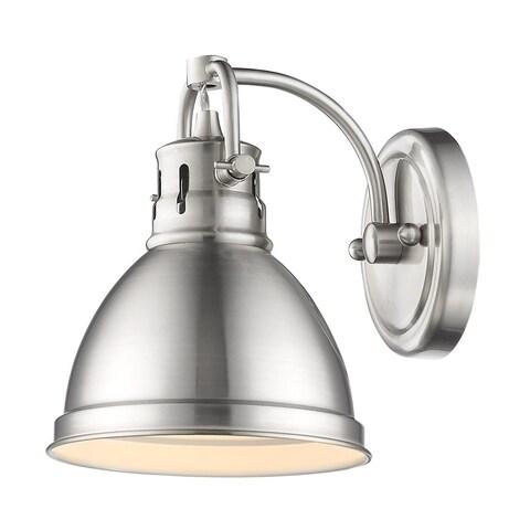 Golden Lighting Duncan Pewter Steel 1-light Bath Vanity Light