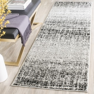 Safavieh Adirondack Modern Abstract Ivory/ Silver Runner (2' 6 x 22')