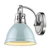 Golden Lighting Duncan Chrome With Seafoam Shade 1-light Bath Vanity Fixture