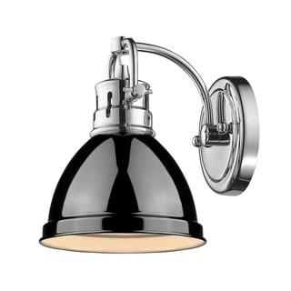 Golden LIghting Duncan Black 1-light Bath Vanity Fixture